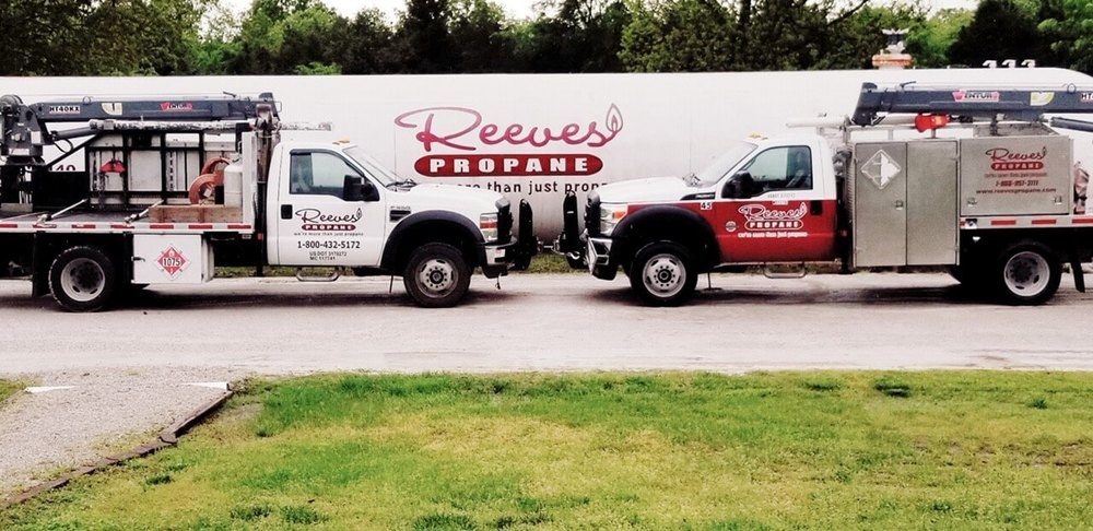 Reeves Propane's trucks